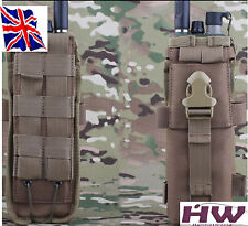 AIRSOFT UNIVERSAL TACTICAL PRC 148 152 MBITR RADIO POUCH MOLLE TAN SAND CB UK