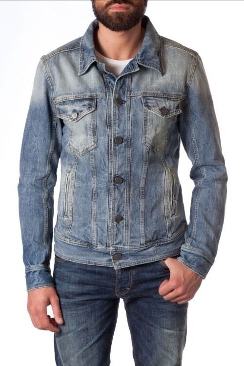 NEUF VESTE JEANS HOMME MARQUE Librehomme T. PORTER MISTRAL TAILLE   S   NEUF