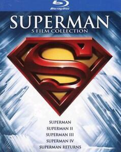 SUPERMAN-COLLECTION-COFANETTO-5-FILM-BLU-RAY-nuovo-sigillato-dv59