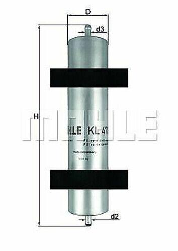MAHLE ORIGINAL Kraftstofffilter KL 478 für BMW