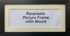 Panoramic Picture Photo Print Poster Frame - White Mount  | Multiple Sizes photo