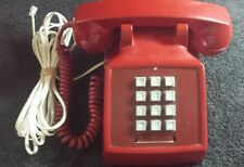 Vintage Bell Western Electric Red Push Button Telephone 25000 5-71 Original