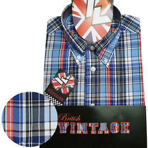 Warrior-UK-England-Button-Down-Shirt-SHELLEY-Hemd-Slim-Fit-Skinhead-Mod