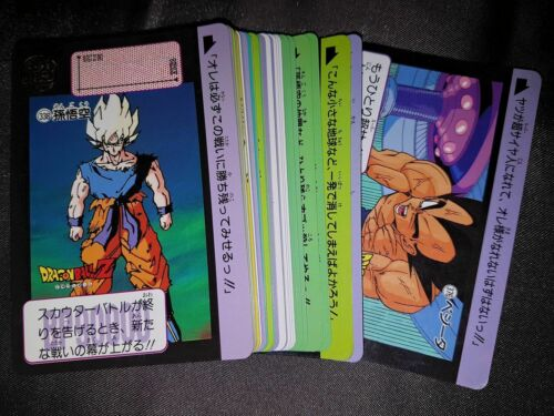 Carte Dragon Ball Z DBZ Carddass Hondan Part 9 #Reg Set 1991 MADE IN JAPAN