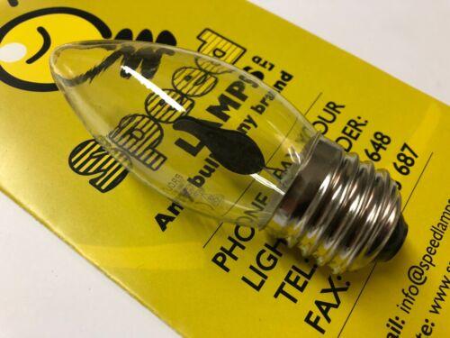 10 X 3W FLICKER FLAME CANDLE LIGHT BULB HALLOWEEN CANDLE LAMPS SBC BC SES ES CAP