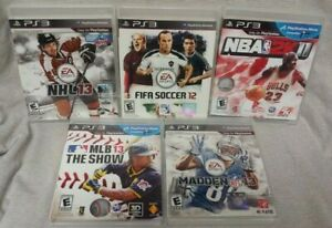 PS3-Sony-Playstation-3-Sport-GAME-Lot-Madden-NFL-Fifa-Soccer-NBA-MLB-NHL-Hockey