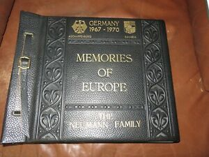 Details About Vintage 1967 1970 Memories Of Europe Leather Bound Photo Album Personalized
