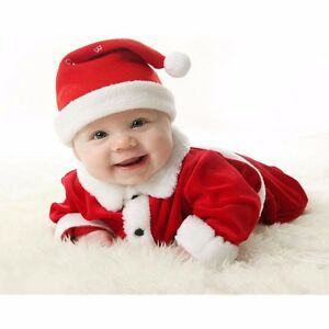 Baby-Boy-Girls-Christmas-Santa-Claus-Costume-Top-Pants-Hat-Outfit-Clothes-Set
