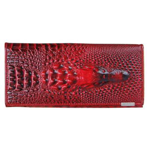 Genuine-Leather-3D-Embossing-Alligator-Ladies-Crocodile-Long-Clutch-Wallets-Wome