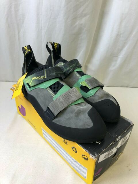 La Sportiva Aragon Men's Climbing Shoes Clay/Jasmine Green Size 10.5