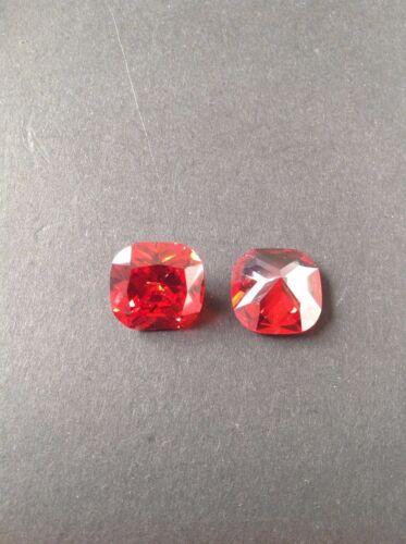 Cushion Square Cut Orange Cubic Zirconia Loose 18x18-15x15-10x10mm CZ Lots AAA