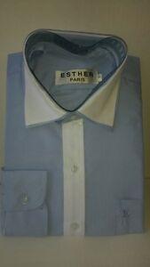 elegant-festliche-Kinderhemd-Blau-WEISS-Hochzeit-Kommunion-Freizeithemd