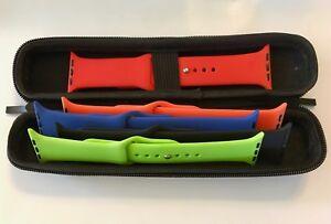 Apple-Watch-Band-Series-1-2-amp-3-Storage-Travel-Case-Black