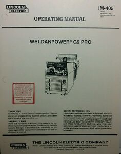 lincoln weldanpower g9 pro 250 dc welder onan operating parts 2 rh ebay com
