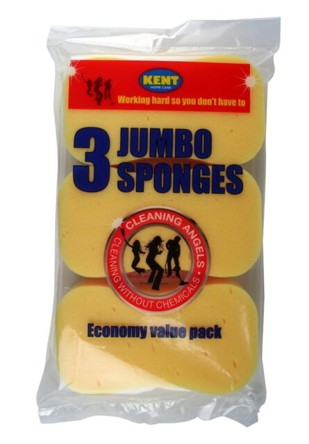 Kent Car Care - Cleaning Angles - 3 Pack Economy Sponges - Shampoo