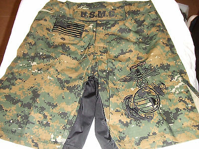USMC MARINES MARPAT CAMO 2 MMA PT S-T-COMP BOARD SHORT FIGHT SHORTS SIZES S-5XL