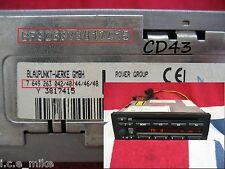 BMW Business Blaupunkt ROVER CD23 CD43 Lettore CD Radio Decodifica Codice Service 25 45