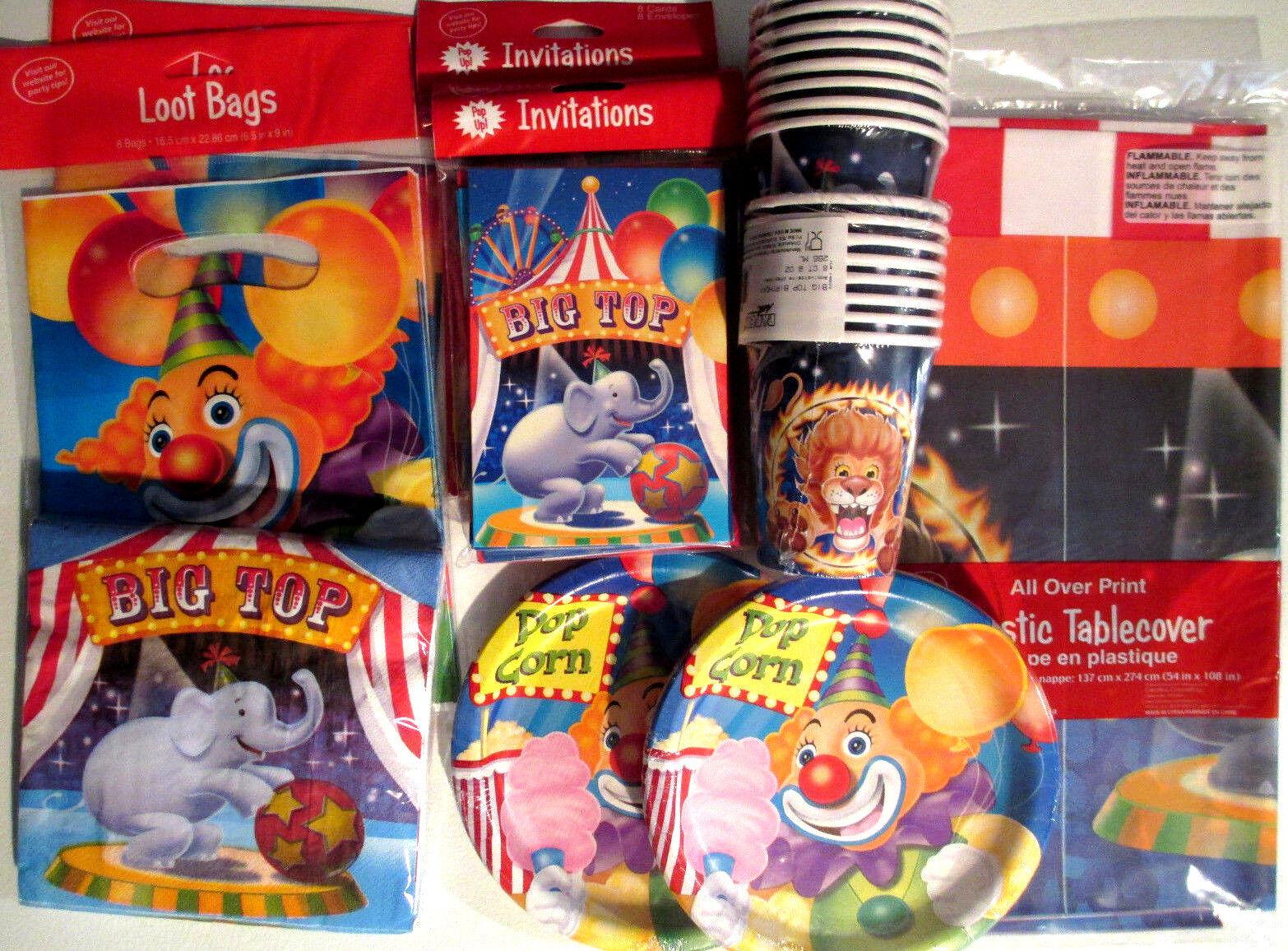 Big Top Zirkus - Geburtstagsparty Lieferungen Satz Luxus Set | Reparieren  | Passend In Der Farbe