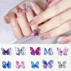 A-Pair-3D-Butterfly-Nail-Art-Rhinestones-Glitters-Gems-Nail-Charms-Manicure-Art
