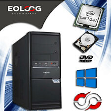 PC DESKTOP COMPUTER FISSO INTEL QUAD CORE 4x2.00 GHZ RAM 8 GB - 500GB HDD