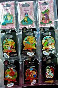 Disney-Plain-Black-pin-Book-with-50-Princess-LE-PINS