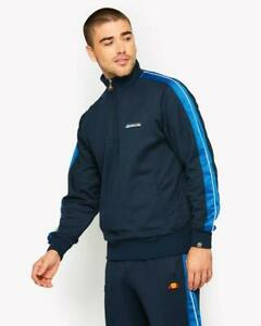 Ellesse-Mens-Track-Top-Jacket-1-4-Zip-Overhead-Dress-Blues-Navy-Vinio-Small