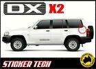2x DX PATROL WAGON VINYL STICKER DECAL KIT TO SUIT NISSAN 4WD GU QUARTER PANEL