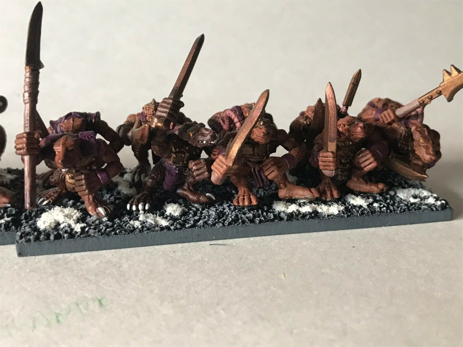 Warhammer Fantasy Skaven Clanrats - - - Painted and Based - x 20 3c1d5d