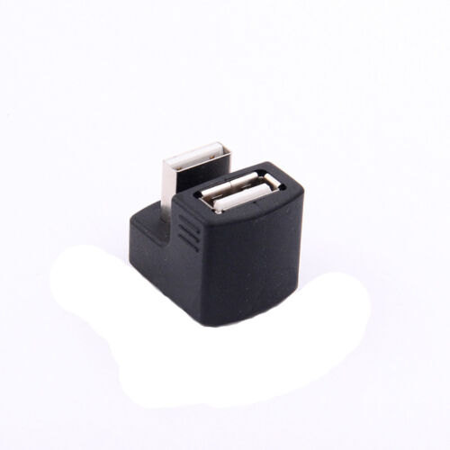USB 2.0 A Male To Female 180 Degree Angled Converter Adapter Connector M//F