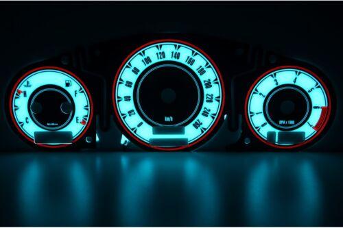 /'98-/'06 design 4 glow gauge plasma dials tachoscheibe glow shift in 8N Audi TT
