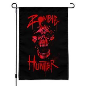 Zombie-Hunter-Red-Skull-Garden-Yard-Flag
