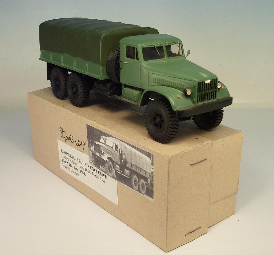 Kimmeria URSS 1/43 Kraz 214 pianificare CAMION 6x6 Hand built in autocostruzione-BOX  9461