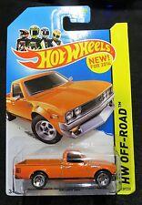 2014  Hot Wheels  Orange Datsun 620 Truck   Card #139