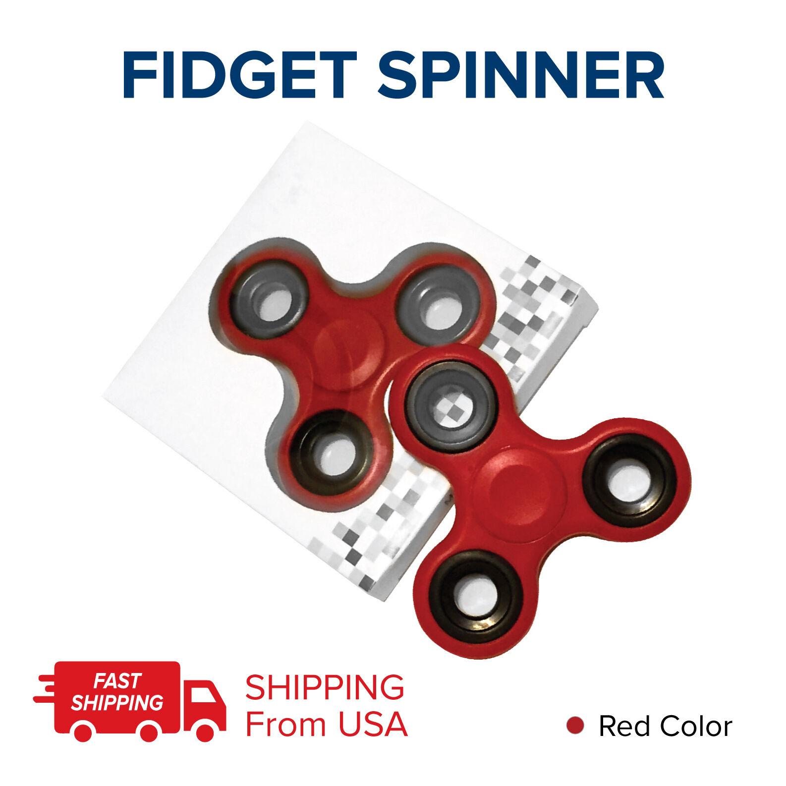 RED EDC EDC EDC FIDGETS LOT 100 TRI FIDGET HAND SPINNER FIGET SPINNERS STEEL FINGER USA ce8461