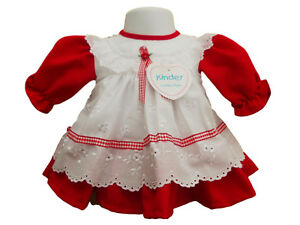 ecd718d1e BNWT baby girls clothes red and white kinder dress clothes Made in ...