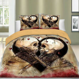 Skull-Duvet-Cover-Set-For-Comforter-King-Queen-Size-Bedding-Set-Pillow-Cases-US