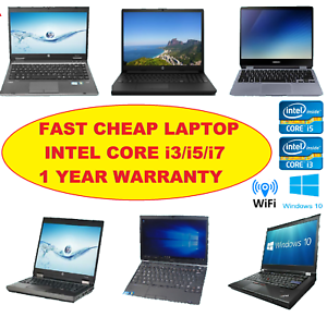 Details about CHEAP DELL HP FUJITSU CORE i5/i3 LAPTOP 16GB/8GB 1TB/500GB  WiFi Win10/7 WARRANTY