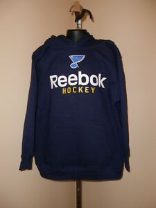 6d1821378 New NHL St. Louis Blues Youth sizes S-L-XL Reebok Navy Blue Hoodie ...
