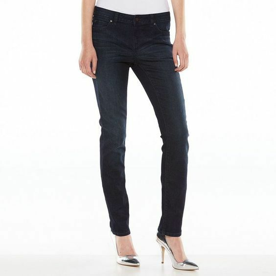 4ffb0e847128c JLO by Jennifer Lopez Straight Leg Mid Rise Jeans in Stellar Sz 8 for sale  online | eBay