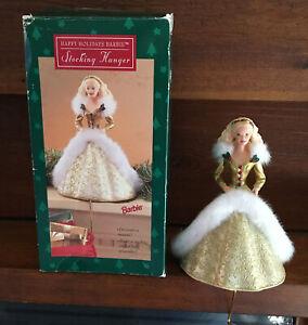 Hallmark-Happy-Holidays-Barbie-Christmas-Stocking-Hanger-1995