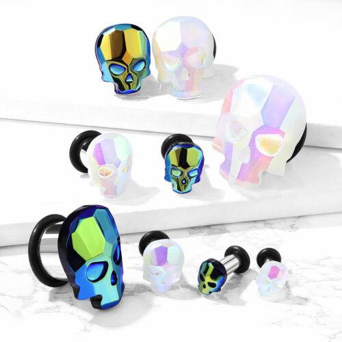 Nuevo sillín Plug túnel piercing-con calavera skull-Selector de color