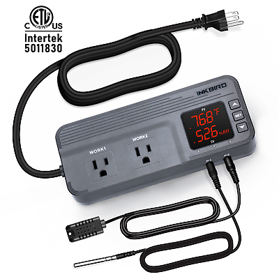 58~212°F 1500W Inkbird C909 Temp Humidity cooking controller Humidifier heater