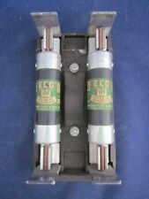 Electric Cutoff Fuse Holder With 2 Economy Fuse Amp Mfg 100 Amp Fuse Vintage 1960