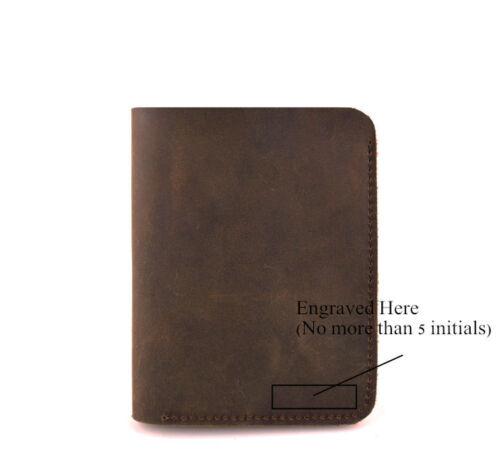 Handmade Genuine Crazy Horse Vintage Cash Retro Leather Men/'s Wallet Purse Card