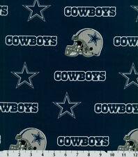 NFL Team Dallas Cowboys Logo Camo Blue Quilting Cotton Fabric By The Yard 6352