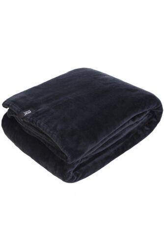 Heat Holders-De Luxe Chaud Fausse Fourrure Thermal Fleece Throw Blanket 1.7 Tog Noir