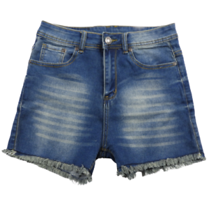 Versace-Blue-Cut-Off-Frayed-Stretchy-Denim-Shorts-Women-039-s-Size-11-12