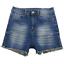 Versace-Blue-Cut-Off-Frayed-Stretchy-Denim-Shorts-Women-039-s-Size-11-12 miniatuur 1