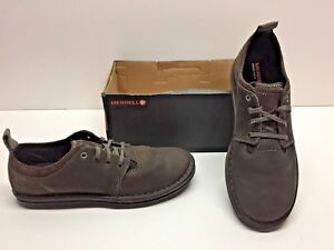 merrell bask sol brown leather casual oxfords sneaker