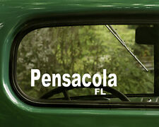 2 PENSACOLA DECALs Florida Sticker for Car Truck Laptop Bumper Window Rv Jeep